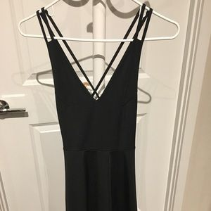 Super cute LBD with criss cross back